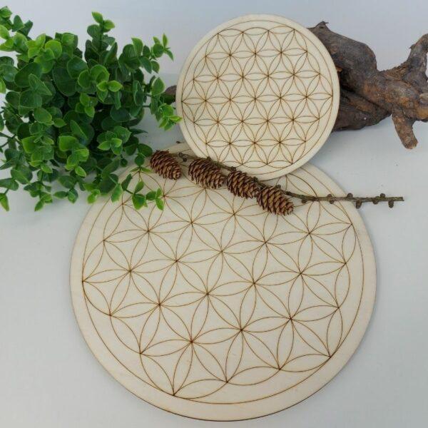 Holzscheibe Blume des Lebens