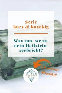 Pinterest Blog Heilstein zerbricht